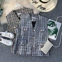 NiceMix Loose Plaid Vest vest Women Spring and Autumn 2019 New Small Fragrance Joker vest outside wearing vest sleeveless jacket