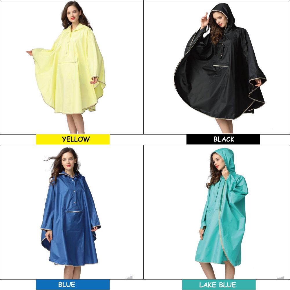 Image 2 - 1PC good quality waterproof emergency rain coat women windbreaker hooded men rain capes ponchosRaincoats   -