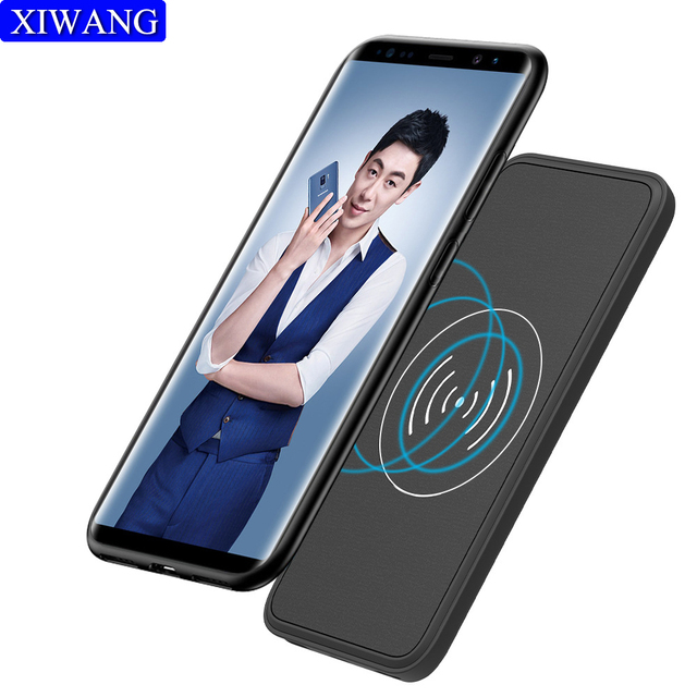 on sale 27c0f dfa7a Magnetic back clip battery Case For Samsung Galaxy Note 9 5000Mah Smart  Wireless Charger PowerBank For Samsung Note 8 s8 s9 plus