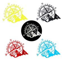 Внедорожный компас виниловая Автомобильная наклейка Роза навигационная наклейка Декаль для автомобиля грузовика Авто ноутбук двери автомобиля и капот