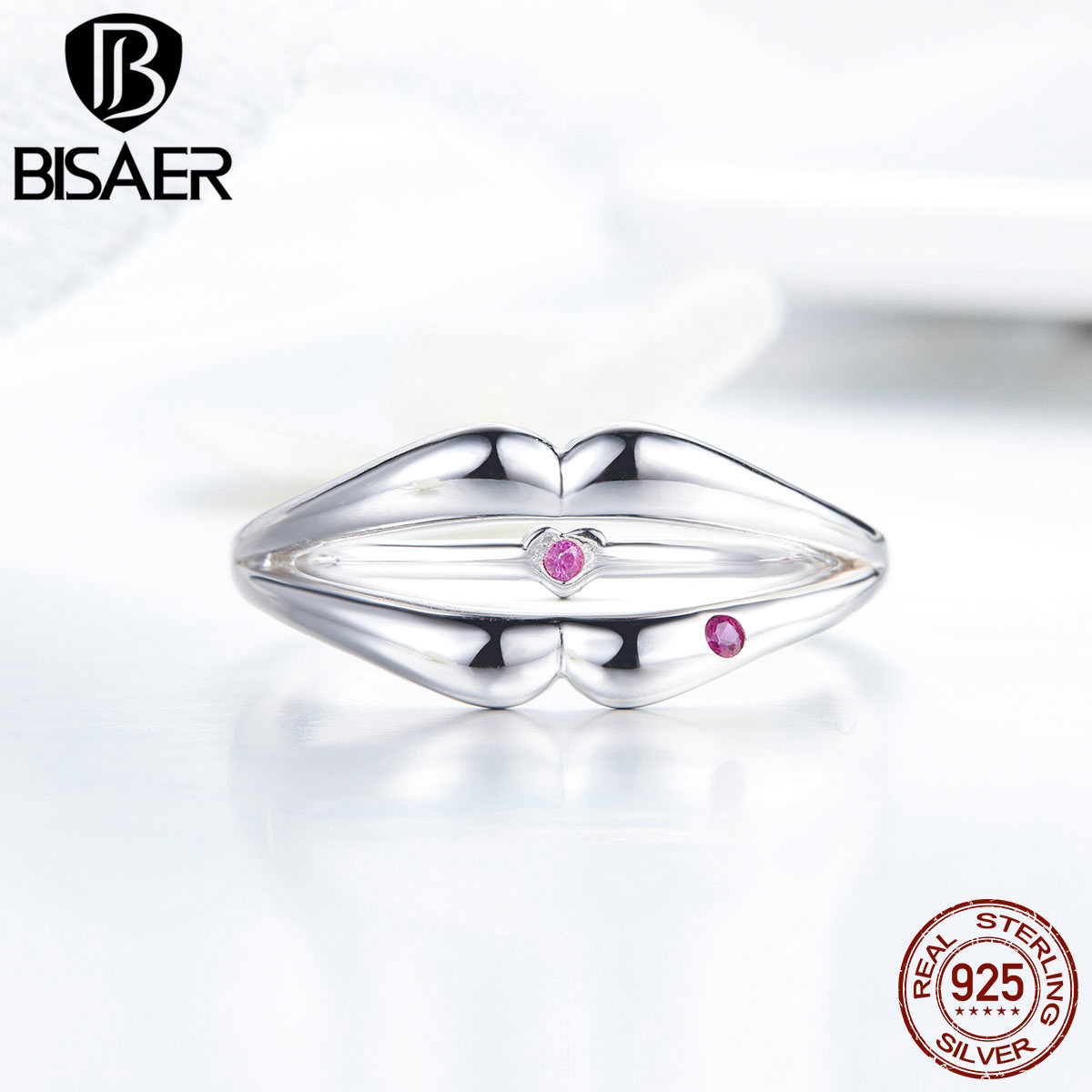 Finger-Rings Jewelry 925-Sterling-Silver Women Love for Two-side-ring/Dropshipping-design/Mode/..