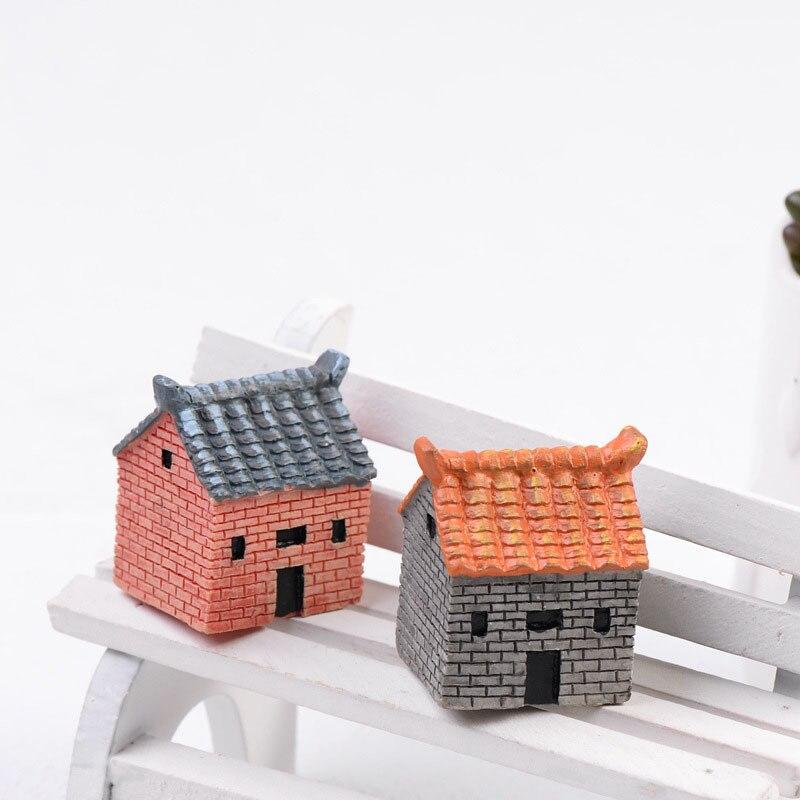 Jahrgang Rustikalen Ziegel Haus Miniatur Fee Garten Häuser ...