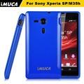 IMUCA тпу силиконовый Чехол Чехол Для Sony Xperia SP C5302 C5303 C5306 M35H телефон случаях Защитный Чехол + протектор экрана