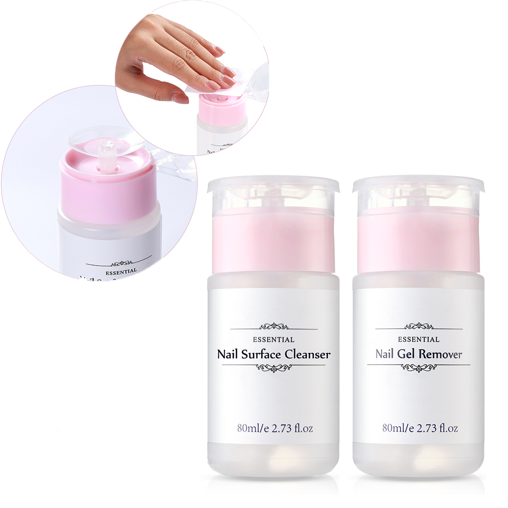 80ml Gel Nail Polish Remover Nail Surface Cleanser UV Gel Sticky Remover Liquid Enhance Shine Effect Cleanser Remover Tool 1pcs