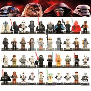 Single Sale Star Wars Legoingly Building Blocks Yoda Leia Figure Clone  Trooper Stormtrooper Kylo Ren Rey Legoing Starwars Models a76761dddbfe