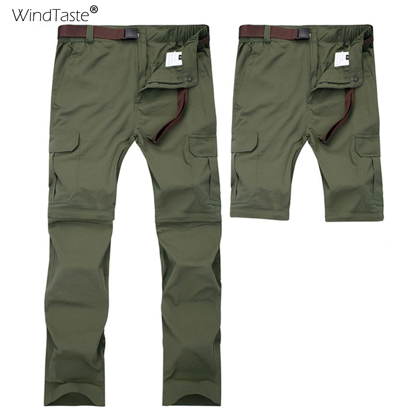 WindTaste 7XL Mens Summer Quick Dry Breathable Hiking Pants Outdoor Sport Trekking Camping Fishing Removable Male Trousers KA065