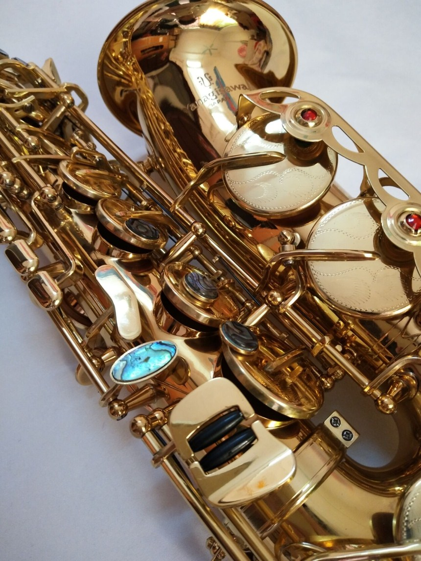 Japan Genuine Yanagisawa Alto Saxophone Eb A-992 musical instrument electrophoresis gold Alto Sax music professional new professional eb alto saxophone sax set personal durable bass body musical instruments eb alto saxophone sax kits free ship