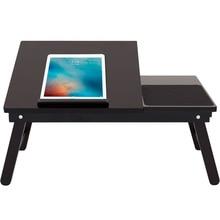 Drewniane stolik na laptopa domu biurko komputerowe studenta blat stołu składany przenośny laptop stół uniwersalny małe biurko