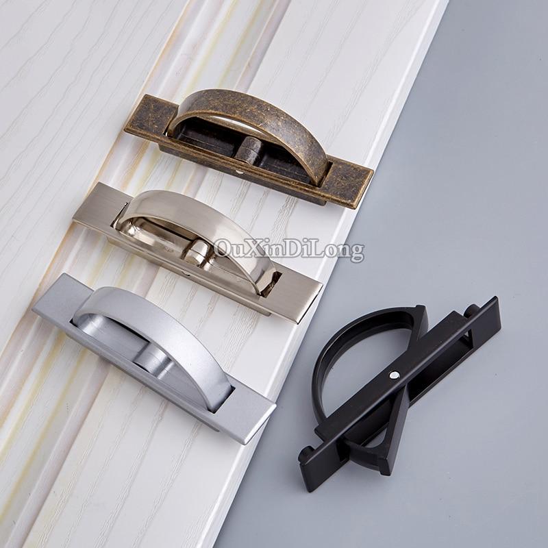 Brand New 10PCS Durable Tatami Hidden Door Handles Recessed Flush Pull Cover Floor Cabinet Handles 4 Colors for Choose