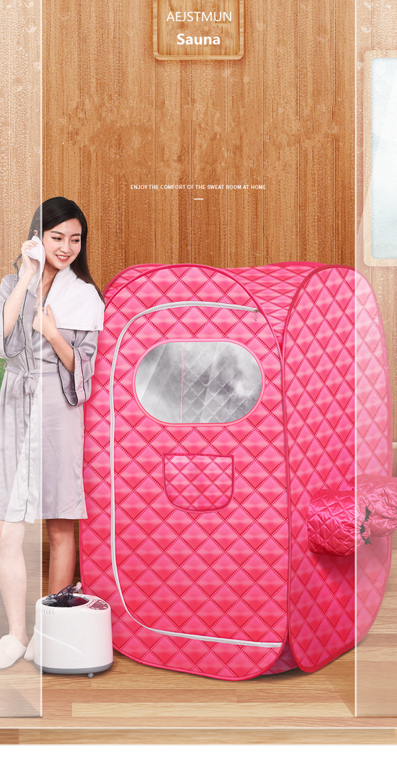 Portable Steam Sauna Bath for Health and Beauty Spa at Home Lose Weight Detox Therapy Steam Fold Sauna Cabin 13