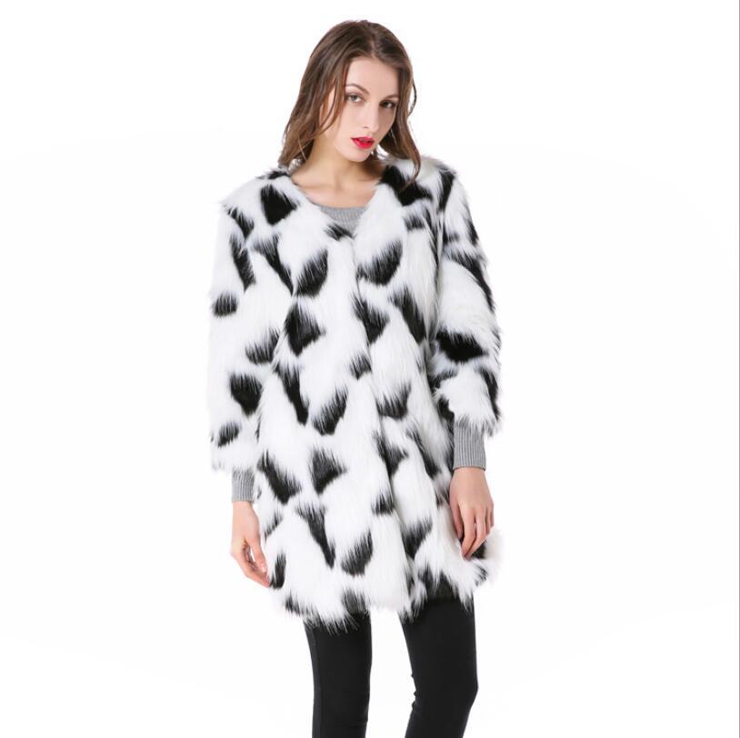 Nuovo Pelliccia Inverno Faux Capelli Bianco Cappotto Moda E 2018 Temperamento Dei In Imitazione Di Lungo Coreano Nero Casual Del Signore Delle 8qxfww5d