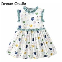 Dream Cradle / Baby Dresses Girl / Cartoon Baby Girl Clothes Summer / Cute Baby Dresses цены