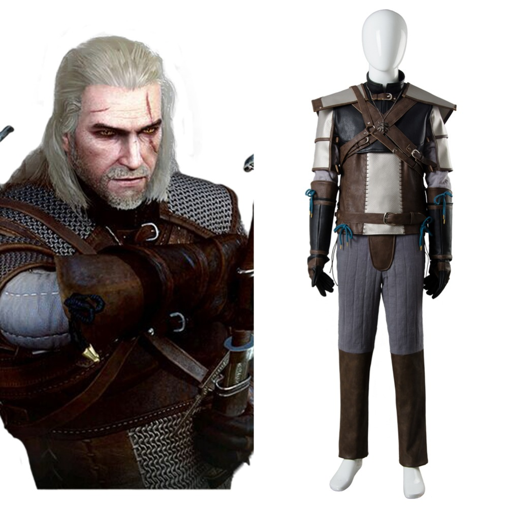 The Witcher 3 sauvage chasse Cosplay Costume Geralt de Rivia tenue adulte ensemble complet Halloween carnaval Cosplay Costume