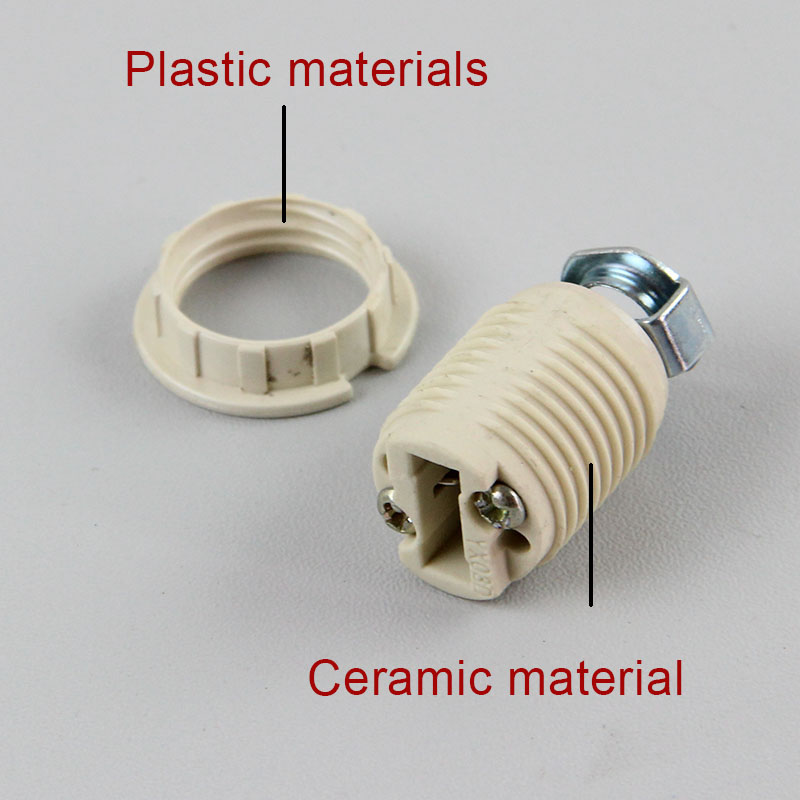 5PCS G9 Complete Set Lamp Bases, G9 Lamp Socket, Ceramic Show Lampholder, G9 Lamp Holder With M10 Bracket