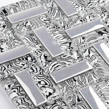 Us 21988 8 Offsrebrny Pasek Ehgm1051c Dla Kuchni Backsplash łazienka Z Prysznicem Szkła Kryształowego Mozaiki Mozaiki ścienne Jadalnia Darmowa