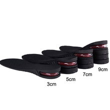 3-9cm Height Increase Insole Cushion Lift Adjustable Cut Shoe Heel Insert Taller Women Men Unisex Quality Foot Pads