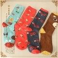 free shipping Cute cartoon images stretch warm high socks female Platinum Angel 2015 Japanese Sen female line winter women Sock