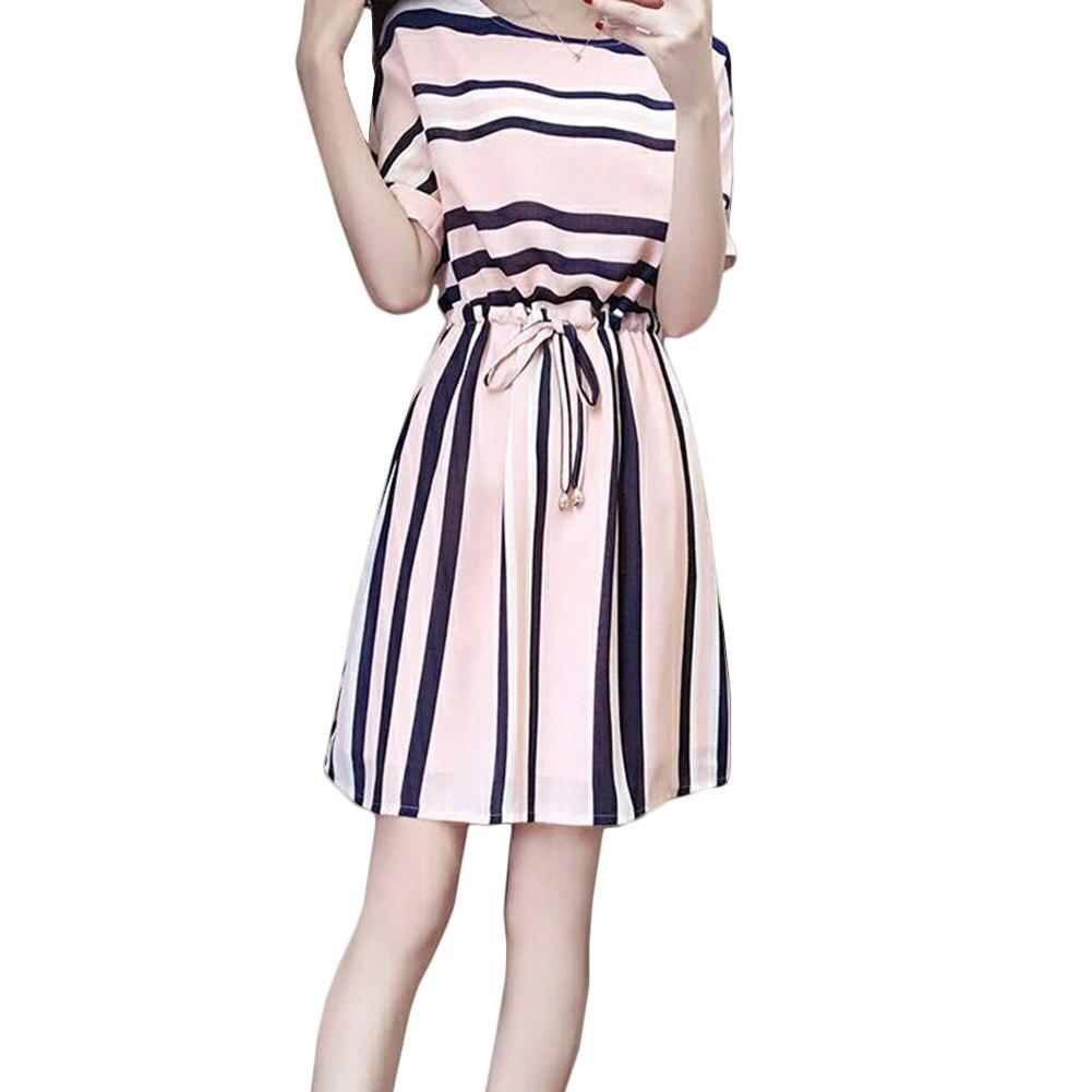Stylish Trend Beautiful Short Sleeve Women 2017 Summer Dress Modern Creative Best Individual Classical