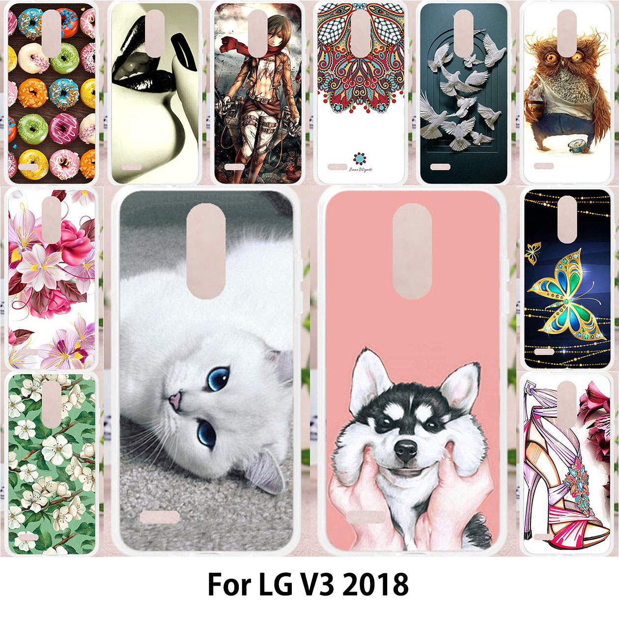 TAOYUNXI For LG Aristo 2 LV3 2018 Metro PCS X210 case For LG Aristo 2 Cases  Silicone Soft Covers Painting Flower Cute Patterned