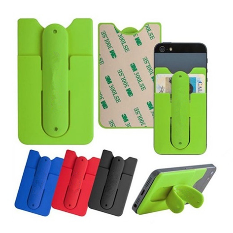 Universal Portable Soft Silicone Mobile Shell Stand Mini Touch U Type Card  Sets Bracket Cell Phone Holder Stent for iPhone 7 8 X 1ece1a772bd3