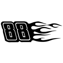 15X5CM 88 Vinyl Decal Black/Silver Motorcycle Car Sticker Originality Car-styling S8-0765