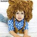 Creative Halloween Children New Style Manual Knitting Yarn Wig Cap Hip Hop Lion Hat Mask Wacky Halloween Gifts