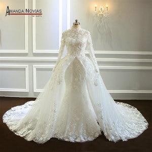Image 1 - Amazing New Model Long Sleeve Muslim Wedding Dresses NS3374