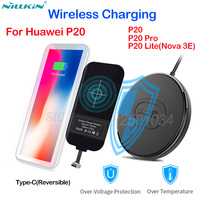 Nillkin Qi Wireless Charging for Huawei P20 Pro P20 Lite Nova 3 3E 2s Mini Fast Wireless Charger+USB Type C Charging Receiver