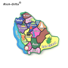 Maps of Saudi Arabia PVC Tourism Souvenir  Fridge Magnet
