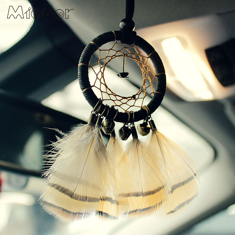 Små Bronze Bells Dreamcatcher & Wind Chimes Bil Vedhæng & Indretning & Wall Hanging Dream Catcher Regalo AMOR105