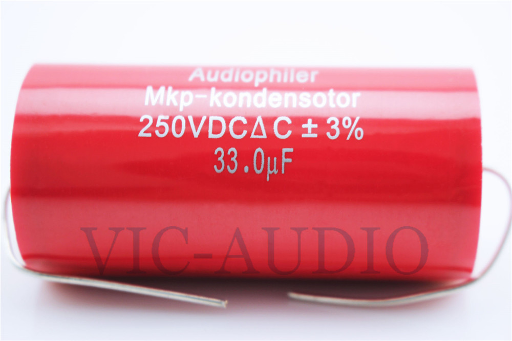 1PC Audiophiler MKP Kondensotor 250VDC 33uf 3% Audio Capacitor Frequency Divider Amplifier HIFI Capacitance 33.0UF Free Shipping