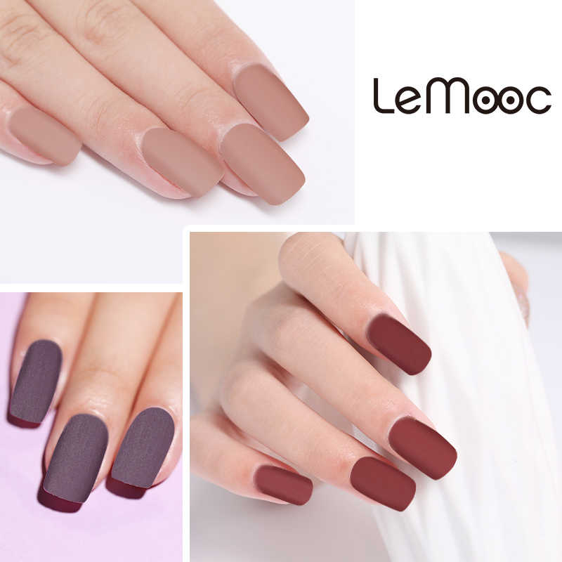 Lemooc 8ml Matte Top Coat Nail Art Uv Gel Nail Polish Semi Permanent Soak Off Gel Varnish Nail Art Gel Paint For Nails Manicure