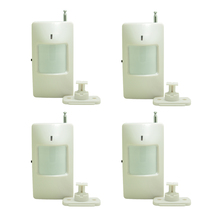 ( 4 Pieces)Adjustable code Wireless PIR sensor with jumper 2262 chip 433 MHz using 9V battery indoor Motion Alarm GSM system