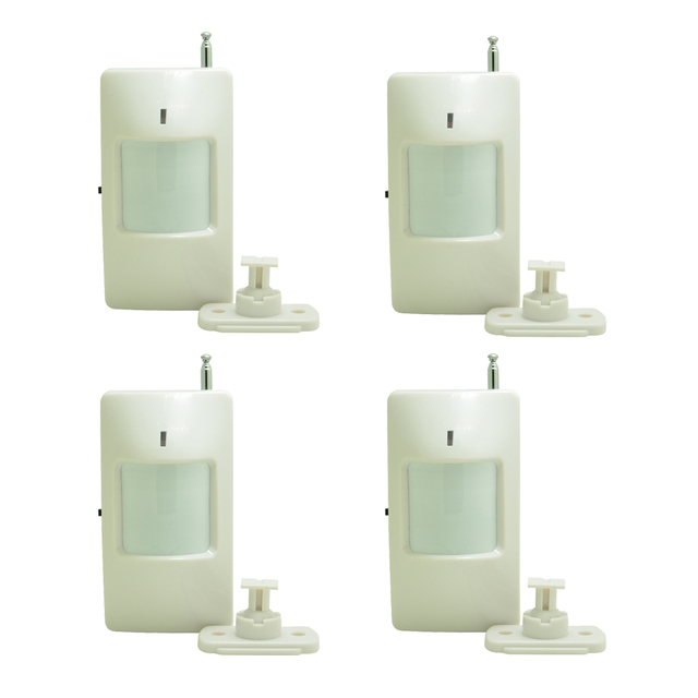 ( 4 Pieces)Adjustable code Wireless PIR sensor with jumper 2262 chip 433 MHz using 9V battery indoor Motion Alarm GSM system