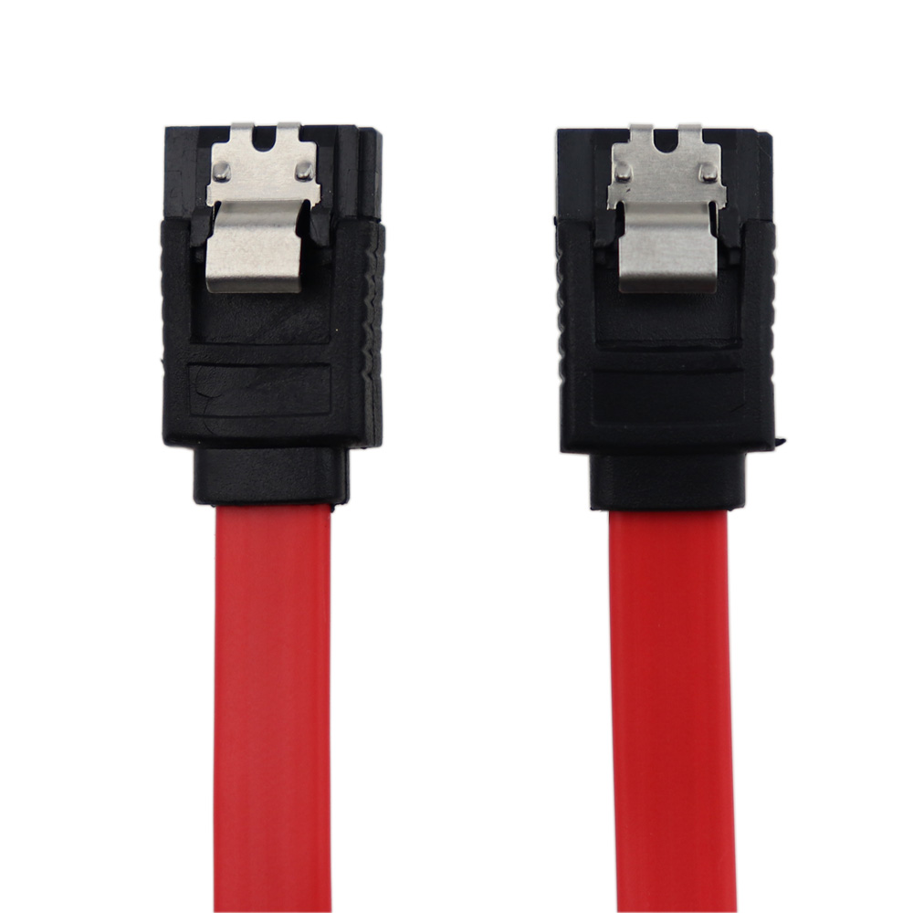 High Speed 6.0 Gbps Straight Serial ATA SATA III Data Cable 7 Pin With Locking Latch For SATA HDD SSD 45cm Red недорго, оригинальная цена
