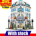 На Складе 2017 Новый Лепин 15018 Новый MOC Создатель Город Серии Sunshine Hotel Набор Строительные Блоки Кирпич Набор Игрушек