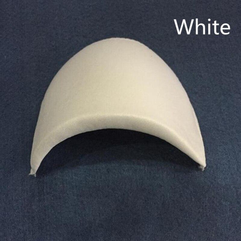 Мягкие Наплечные подушечки из губчатой пены для футболок Одежда Аксессуары для шитья Wh - Цвет: white