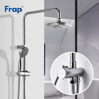 Frap Top Quality Bath Shower Faucets Set Bathroom Water Mixer Bathtub Taps Rainfall Shower torneira Tap ABS Shower Head F2405