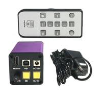 16MP 1080P 30fps HDMI Digital Industrial Video USB Microscope Camera TF Card Video Recorder Mobile Phone PCB Repair