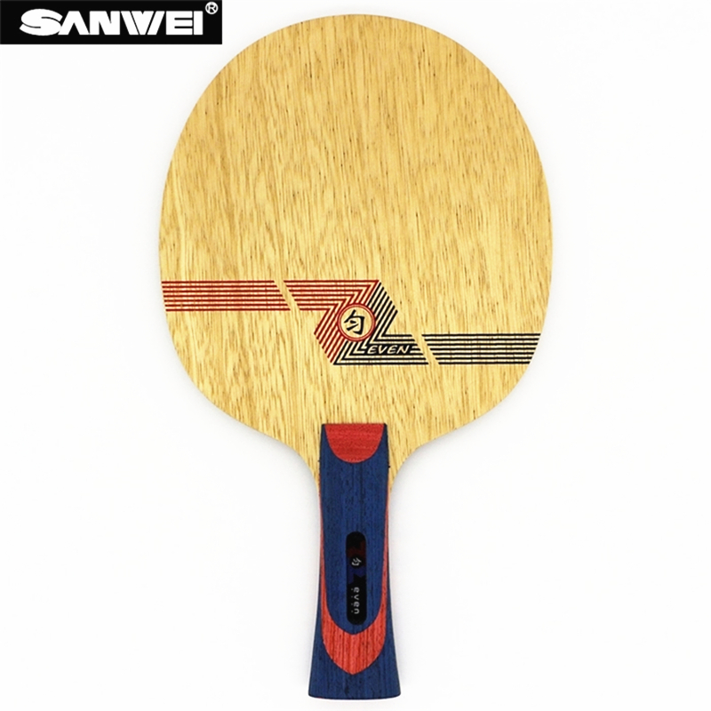 SANWEI Table Tennis Blade WHITE EVEN BY 10 plywood 9 Soft Carbon for 40 ping pong