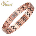 Vivari 2017 Bracelet for Men 23pcs Magnets Antiqeue Copper Link Chain Bangle Magnetic Jewellry Free Shipping Charm Accessories