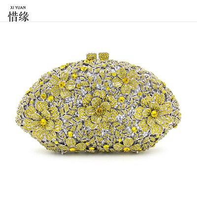 XIYUAN BRAND jeweled clutch Wedding Bridal purse Luxury Diamond Evening Bags Lady Day clutch font b