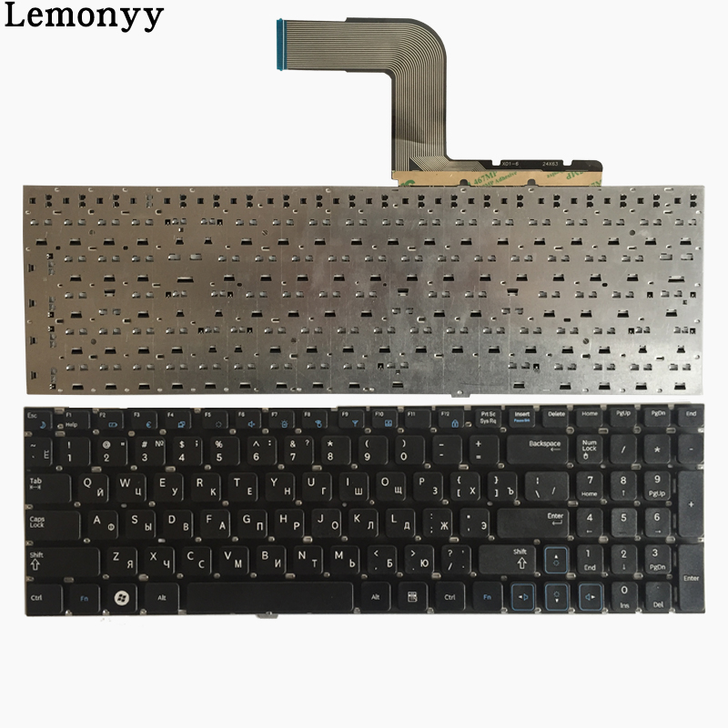 Teclado ruso para Samsung RV509 RV511 NP-RV511 RV513 RV515 RV518 RV520 NP-RV520 Negro RU teclado del ordenador portátil