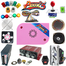 Arcade parts Bundles With Illuminated button LED bulbs holders nuts Joystick player buttons Microswitch Pandora Box 6