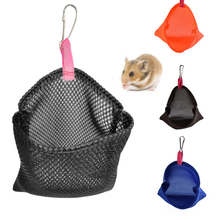 Breathable Solid Color Hangable Small Pet Summer Sleeping Bags Hanging Bed Mesh Bird Nest Hanging Hammock Toy For Hamster Bird
