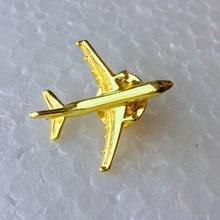Odznaka Airbus A 321, Metal, srebro, broszka w kształcie samolotu, specjalna upominek z pamiątkami dla załogi Filght Pilot Avaiton Lover