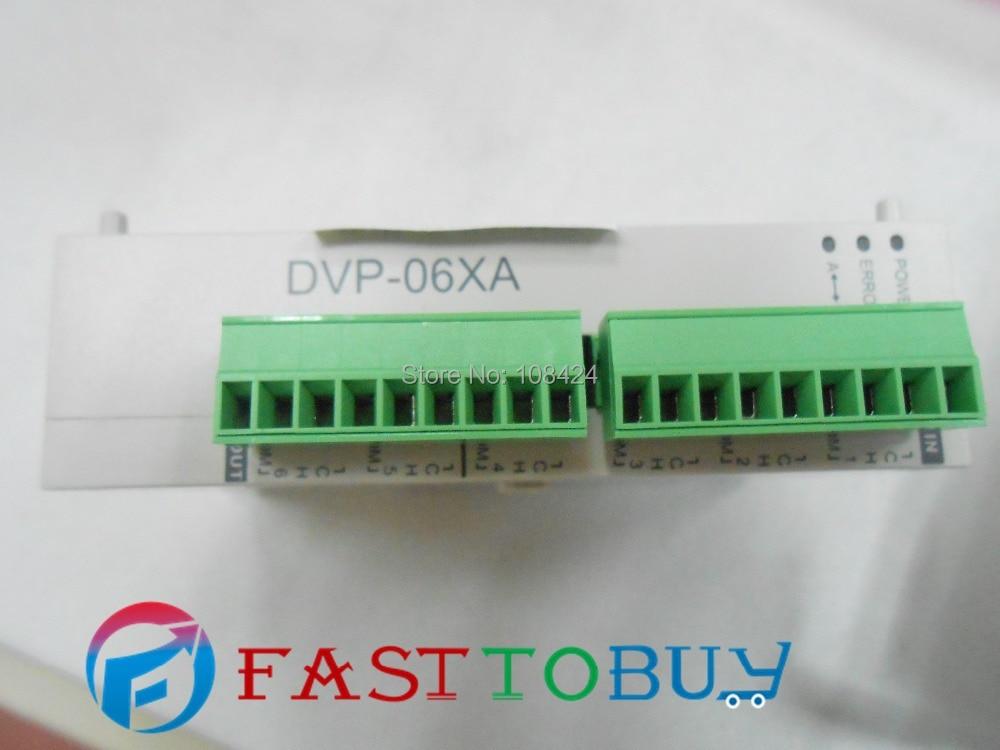 Delta PLC SS series Analog Module DVP06XA-S 4AI 2AO DC 12-bit RS485 New new original dvp04pt s delta plc 4 pt100 module
