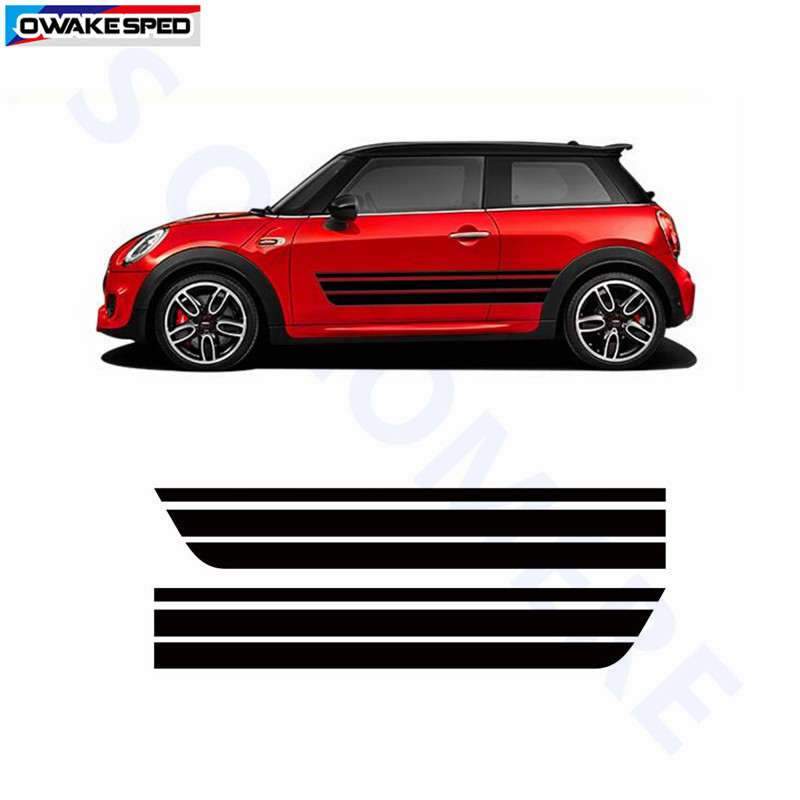 Car Door Side Stickers Exterior Accessories Auto Body Stripes Racing Decal For Bmw Mini Coopers Clubman R55 R56 R60 R61 F55 F5 Car Stickers