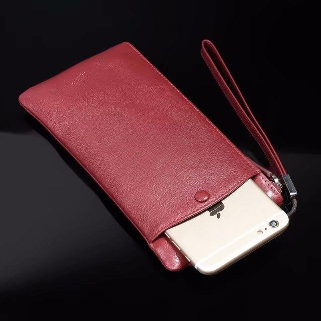 Pochette en cuir de vachette véritable pour téléphone portable pour Sony Xperia XZ3/XA2 Plus/XZ2 Premium/XA2 Ultra/XZ2/L2R1 (Plus)