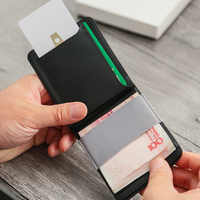 MAG Modular Wallet Slim Mini Removable Magnetic Card Bag Fashion PU Leather Business Card Holder Men Credit Card Holder ID Card